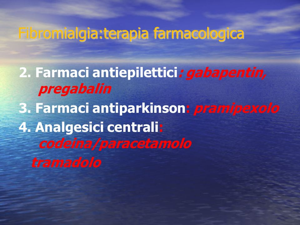 Fibromialgia:terapia farmacologica