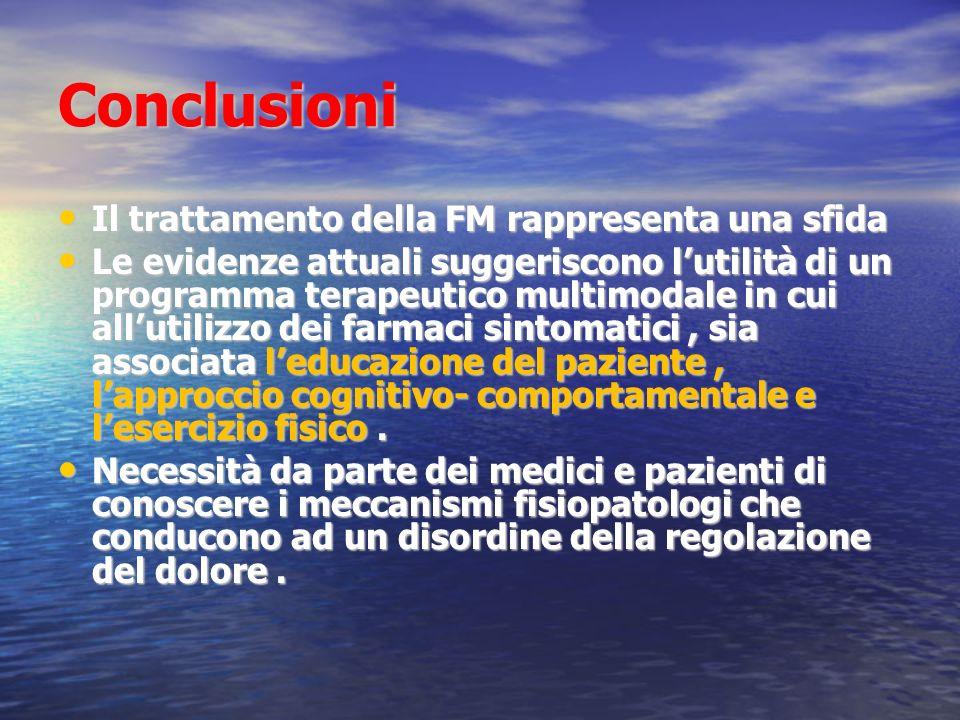 Conclusioni Il trattamento della FM rappresenta una sfida