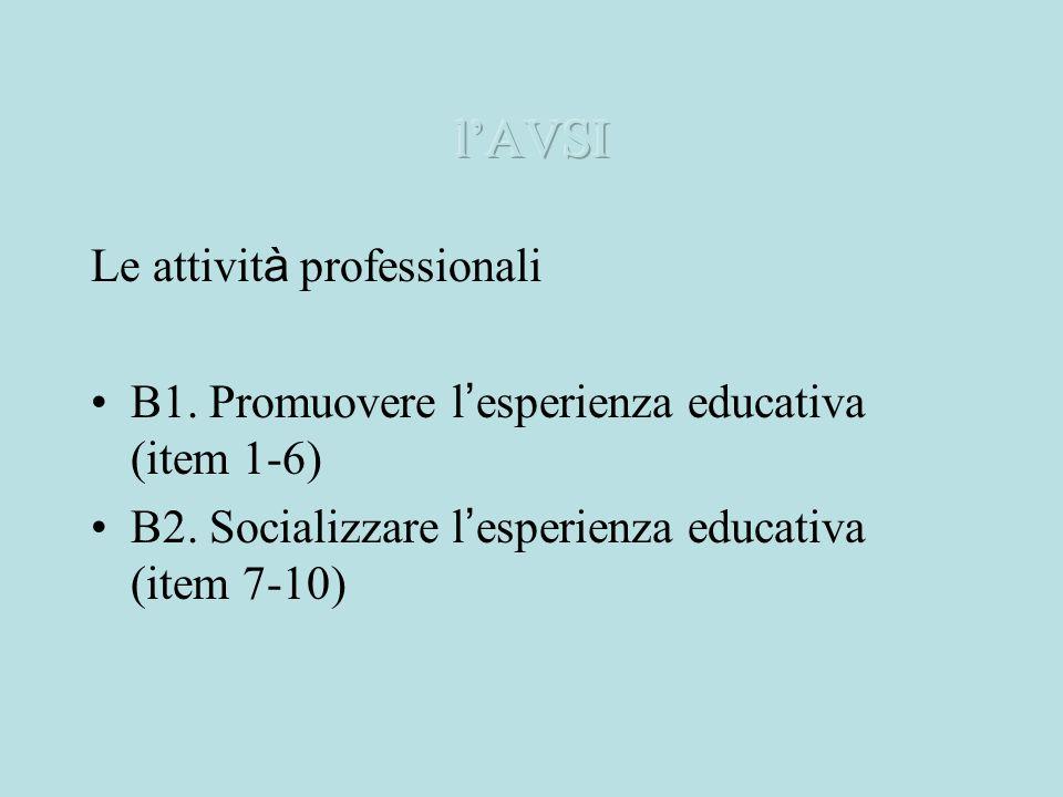 l'AVSI Le attività professionali