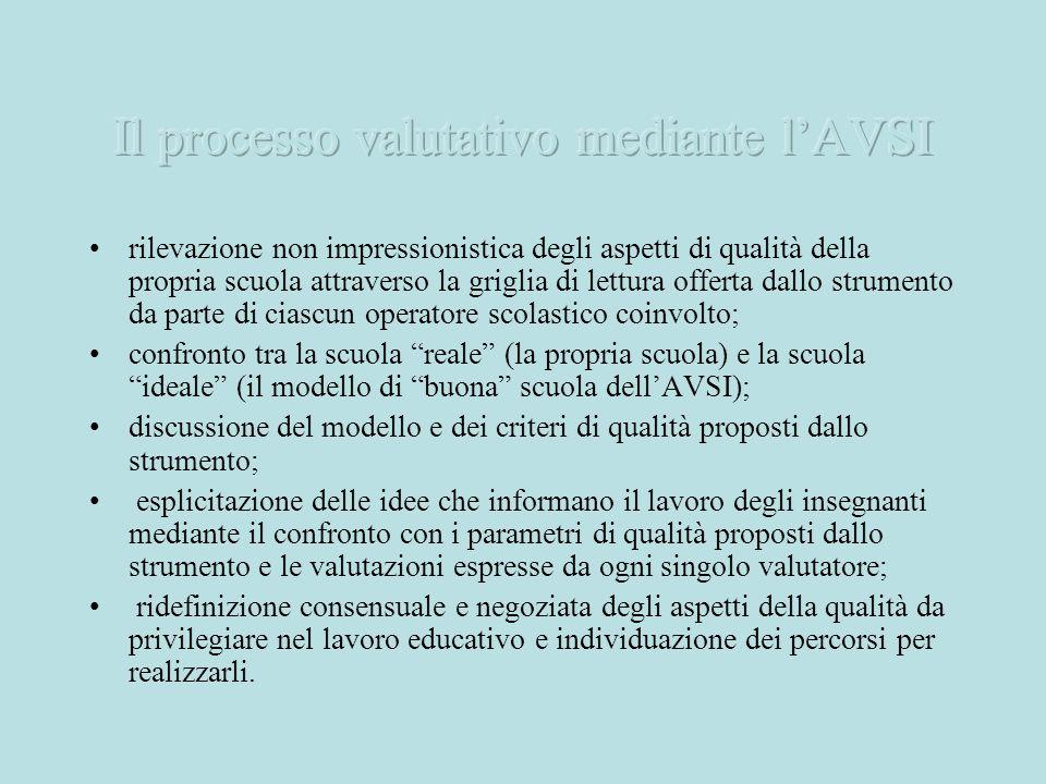 Il processo valutativo mediante l'AVSI