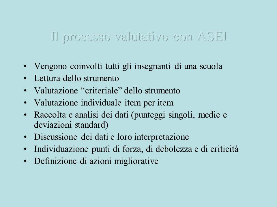 Il processo valutativo con ASEI