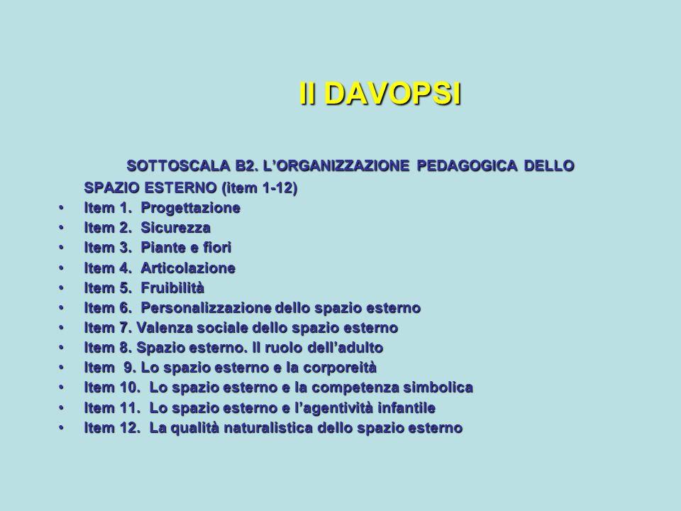 Il DAVOPSI SOTTOSCALA B2. L'ORGANIZZAZIONE PEDAGOGICA DELLO