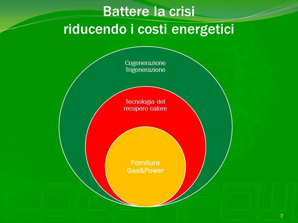 Battere la crisi riducendo i costi energetici