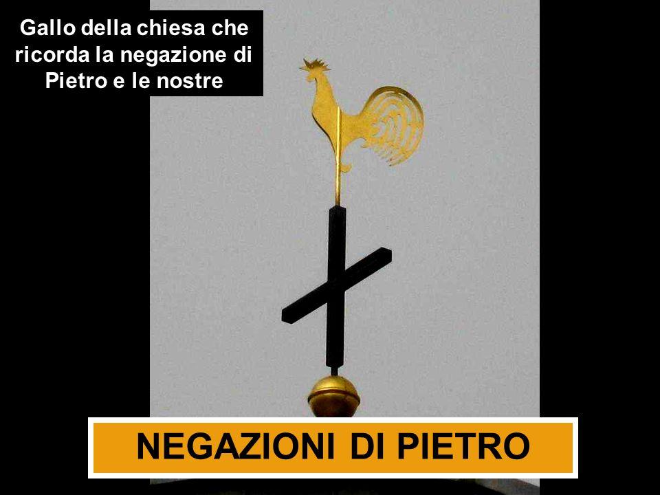 Gallo della chiesa che ricorda la negazione di Pietro e le nostre