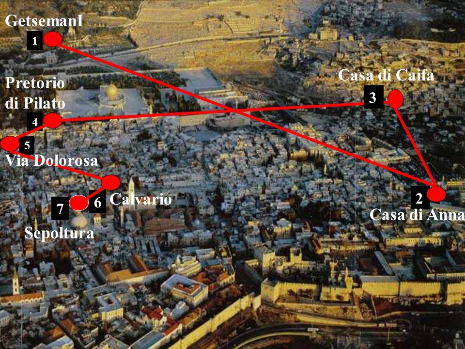 GetsemanI Casa di Caifa Pretorio di Pilato Via Dolorosa Calvario