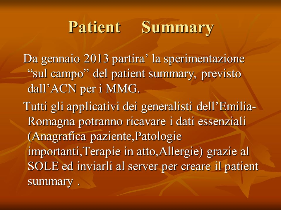 Patient Summary