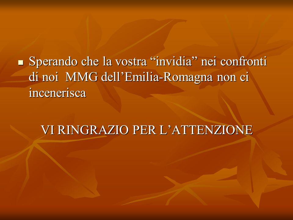 Sperando che la vostra invidia nei confronti di noi MMG dell'Emilia-Romagna non ci incenerisca