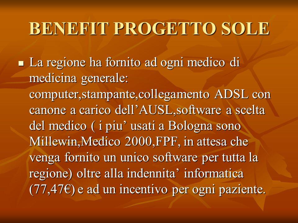 BENEFIT PROGETTO SOLE