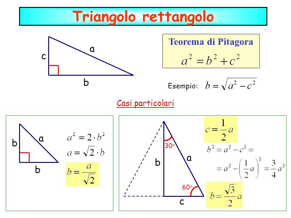 Triangolo rettangolo Teorema di Pitagora a c b a b a b b c