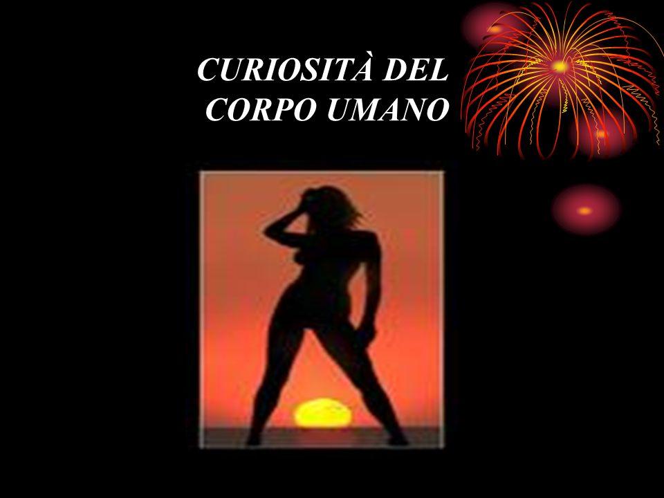 CURIOSITÀ DEL CORPO UMANO