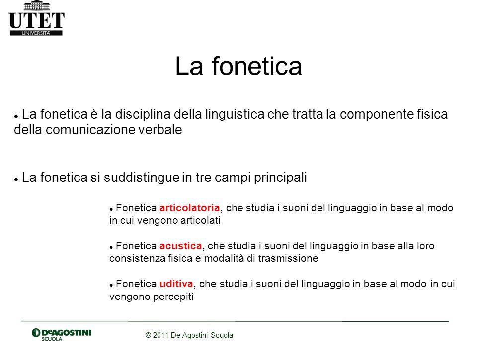 La foneticaLa fonetica è la disciplina della linguistica che tratta la componente fisica della comunicazione verbale.