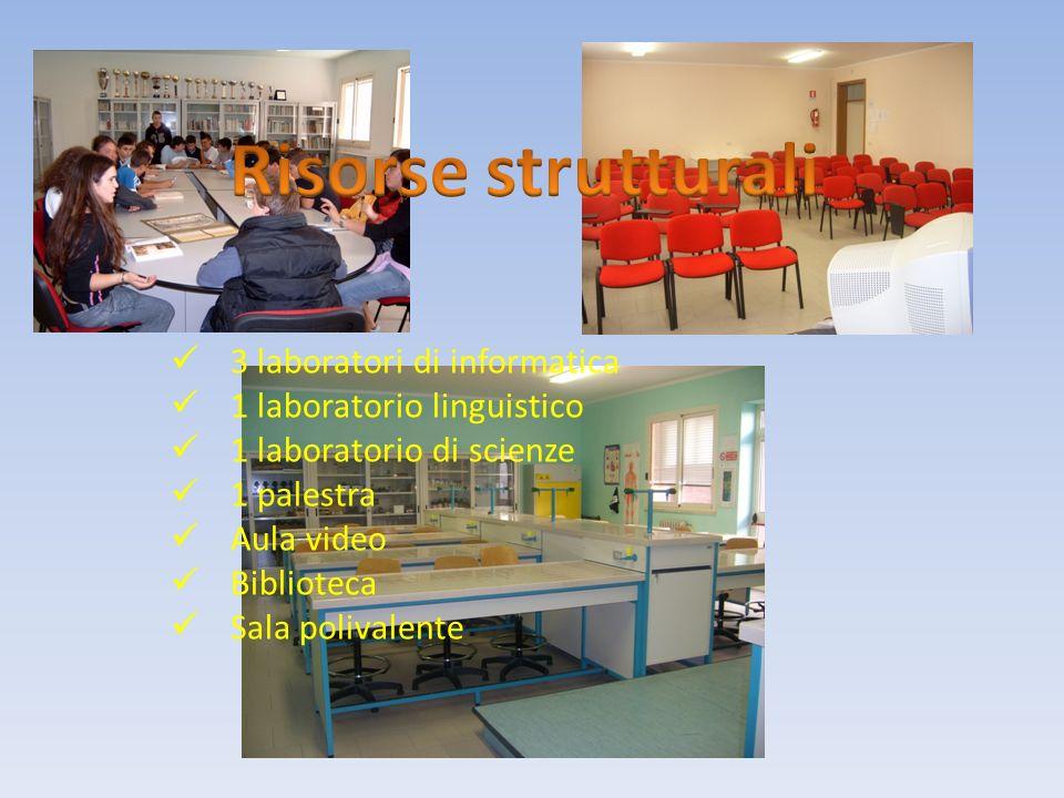 Risorse strutturali 3 laboratori di informatica