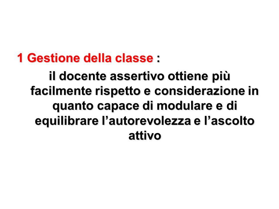 1 Gestione della classe :