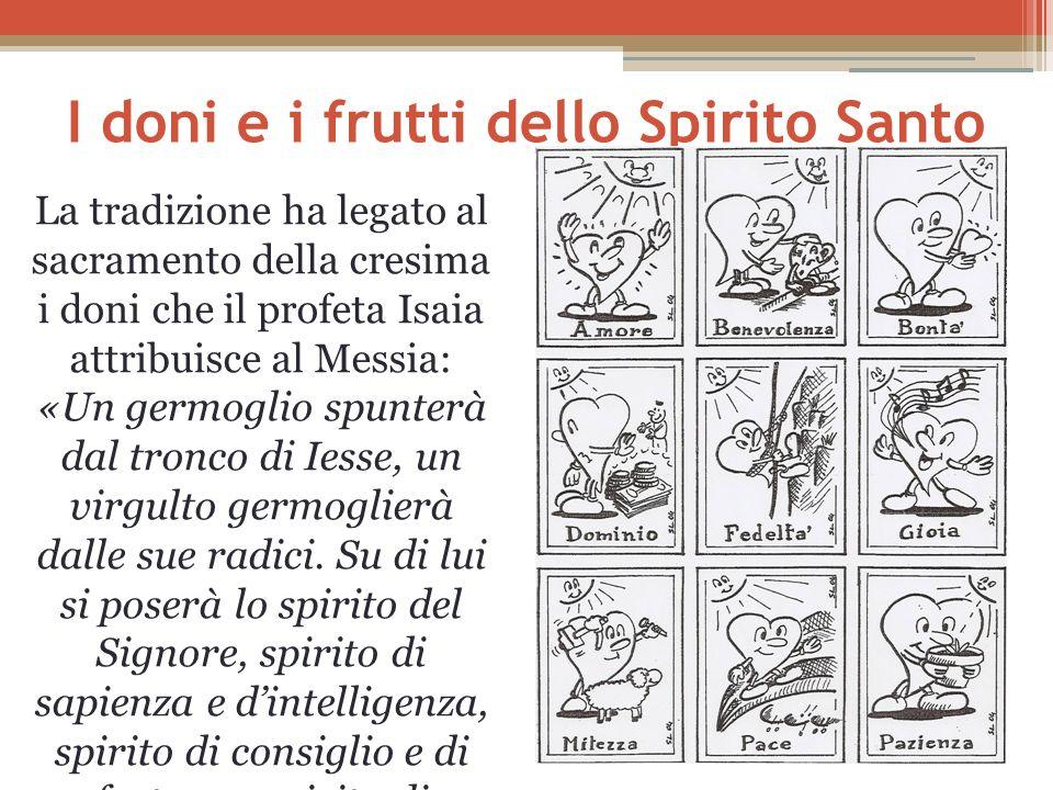 I doni e i frutti dello Spirito Santo
