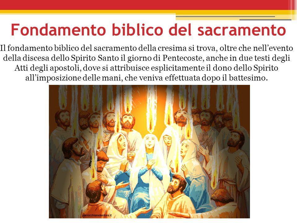 Fondamento biblico del sacramento
