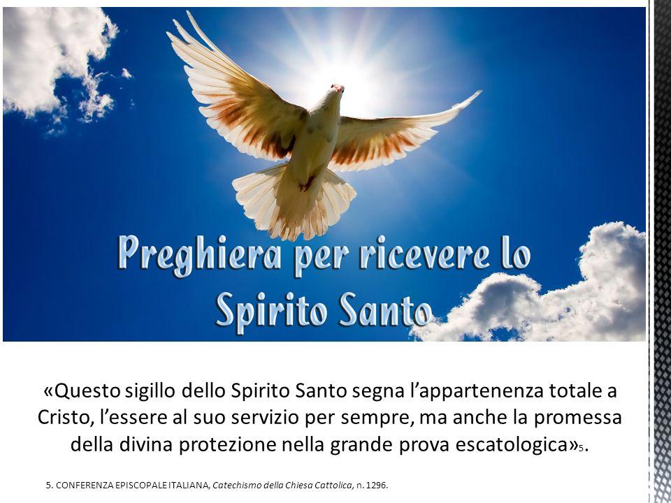 «Questo sigillo dello Spirito Santo segna l'appartenenza totale a Cristo, l'essere al suo servizio per sempre, ma anche la promessa della divina protezione nella grande prova escatologica»5.