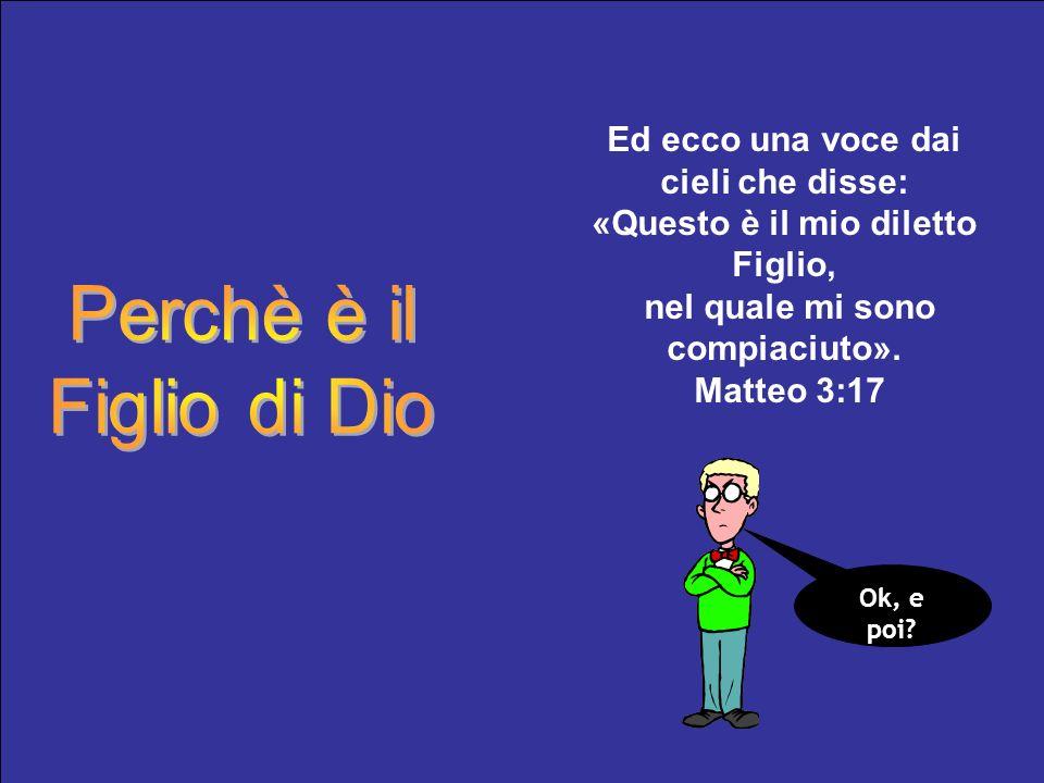 Perchè è il Figlio di Dio Ed ecco una voce dai cieli che disse:
