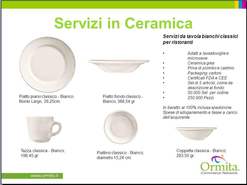 Servizi in Ceramica Servizi da tavola bianchi classici per ristoranti