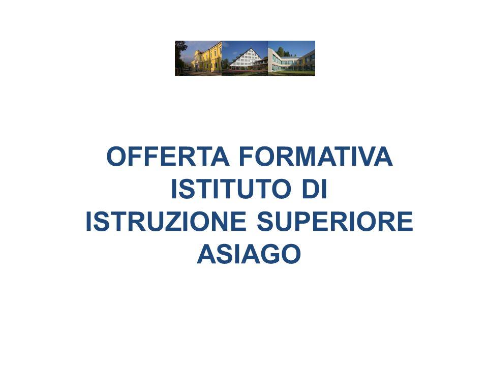 OFFERTA FORMATIVA ISTITUTO DI ISTRUZIONE SUPERIORE ASIAGO