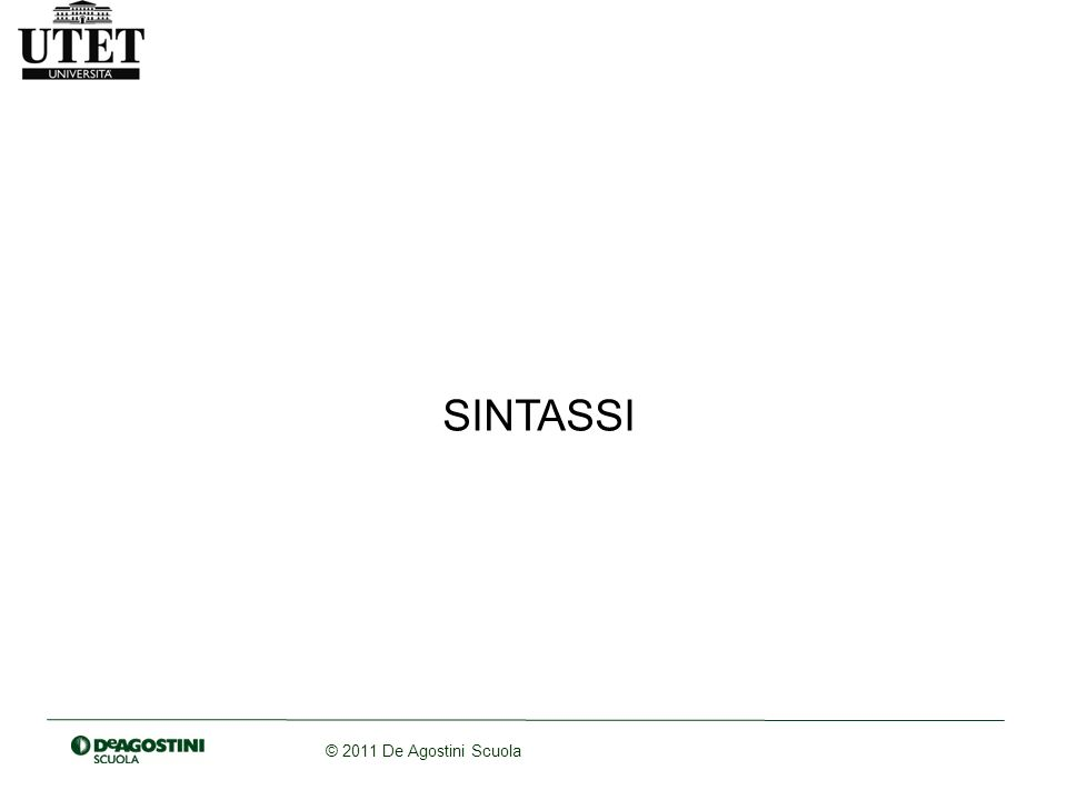 SINTASSI