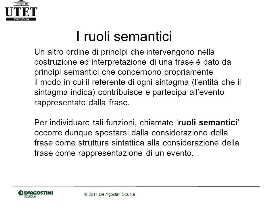 I ruoli semantici
