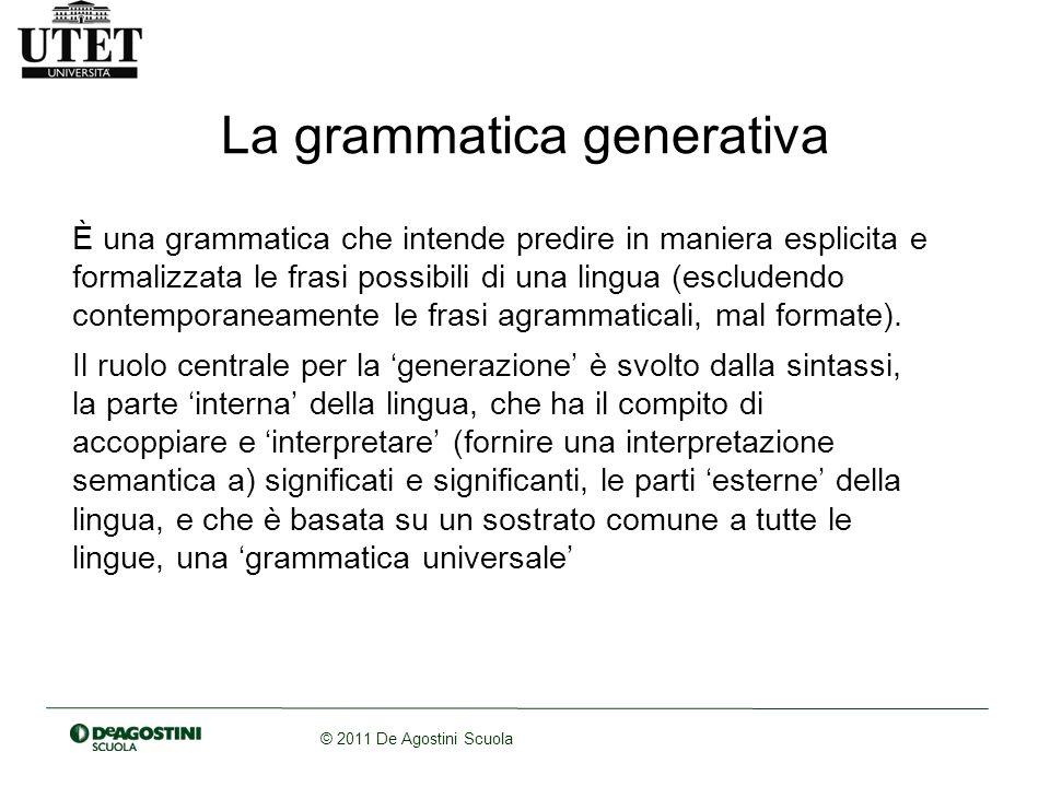 La grammatica generativa