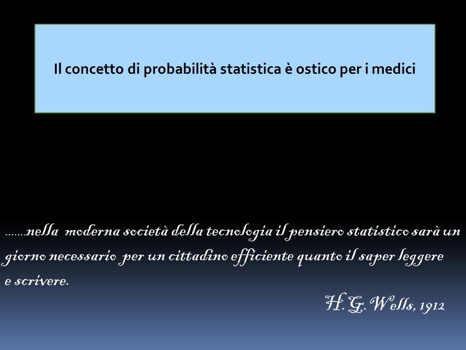 Il concetto di probabilità statistica è ostico per i medici