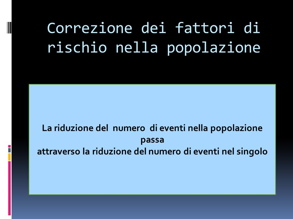 Correzione dei fattori di rischio nella popolazione