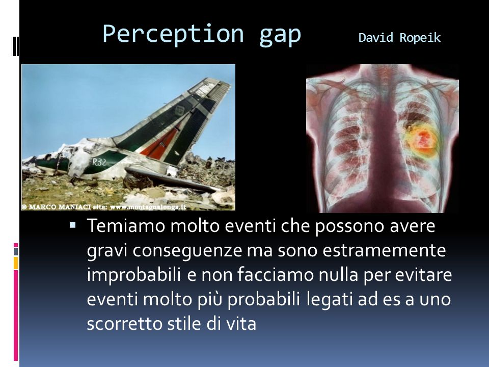 Perception gap David Ropeik