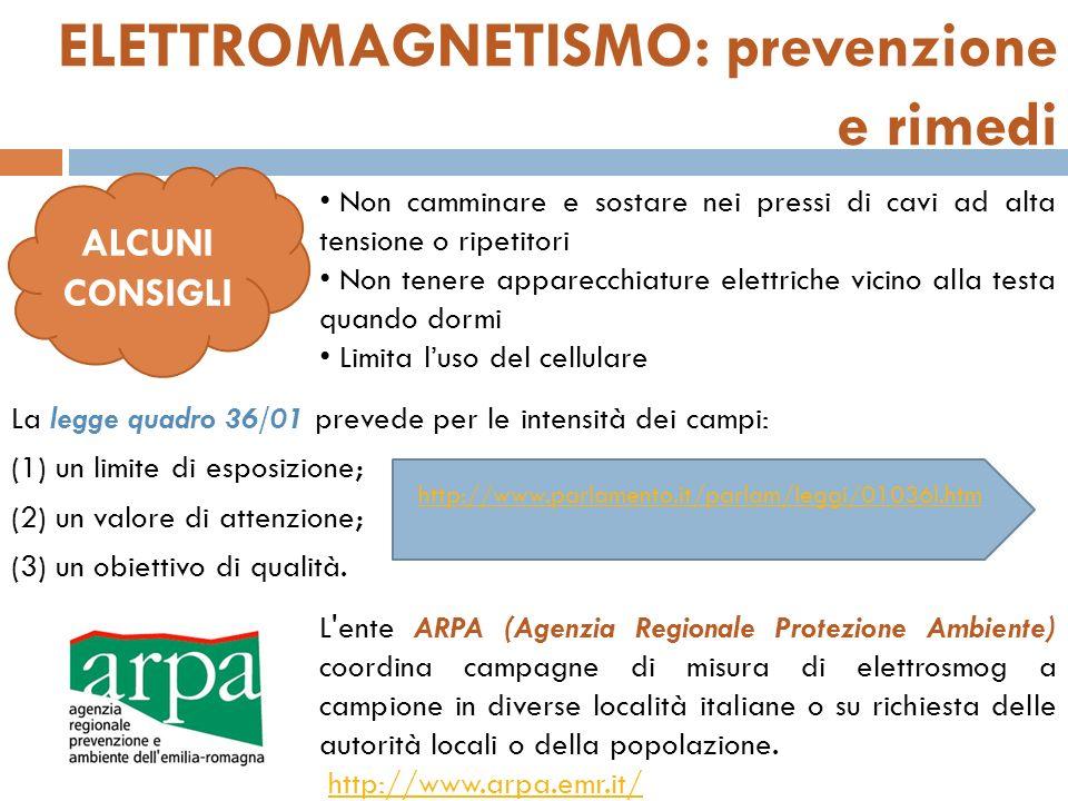 ELETTROMAGNETISMO: prevenzione e rimedi