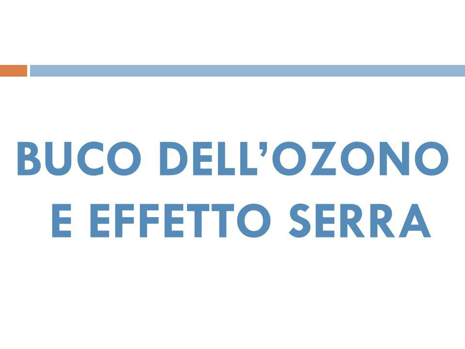 BUCO DELL'OZONO E EFFETTO SERRA