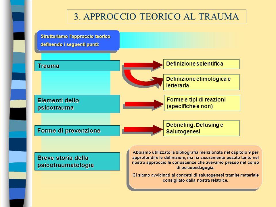 3. APPROCCIO TEORICO AL TRAUMA