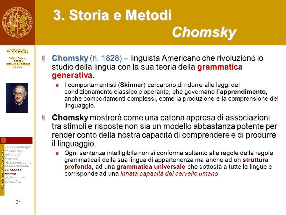 3. Storia e Metodi Chomsky