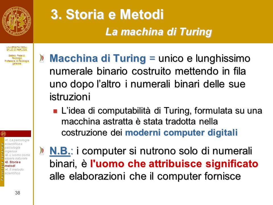 3. Storia e Metodi La machina di Turing