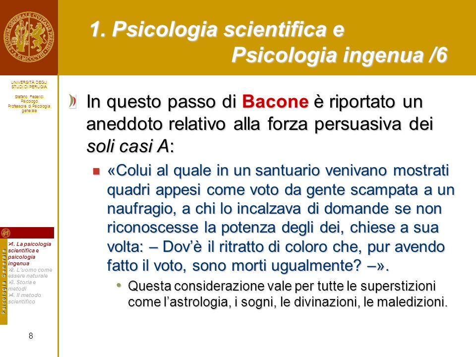 1. Psicologia scientifica e Psicologia ingenua /6
