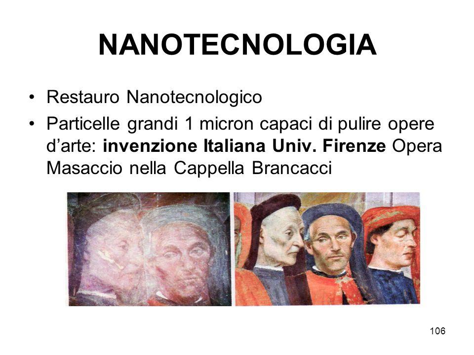 NANOTECNOLOGIA Restauro Nanotecnologico