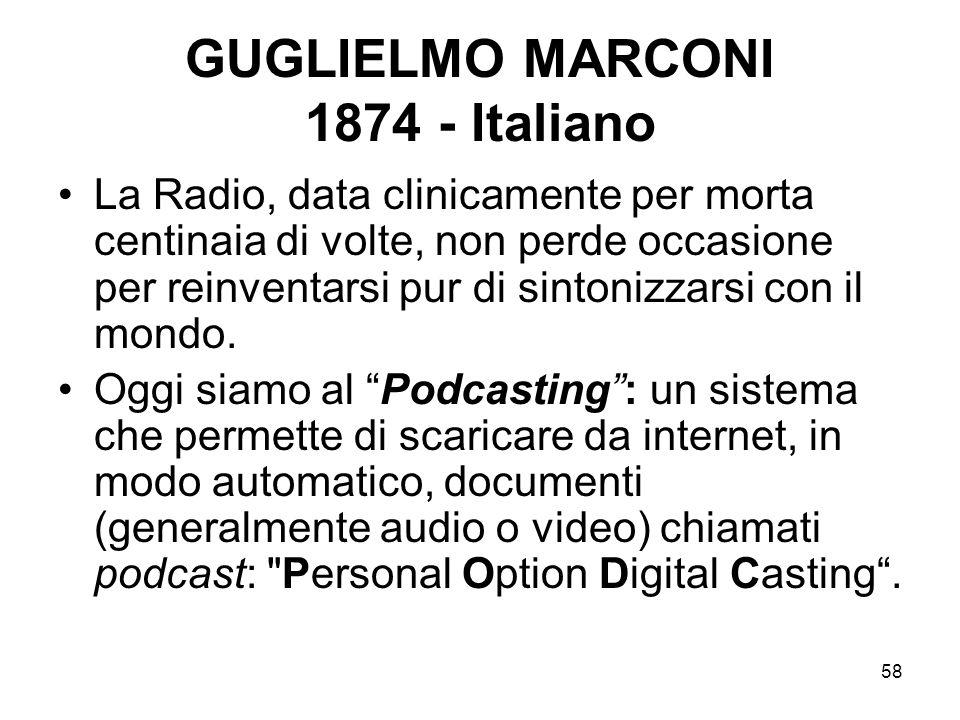 GUGLIELMO MARCONI 1874 - Italiano