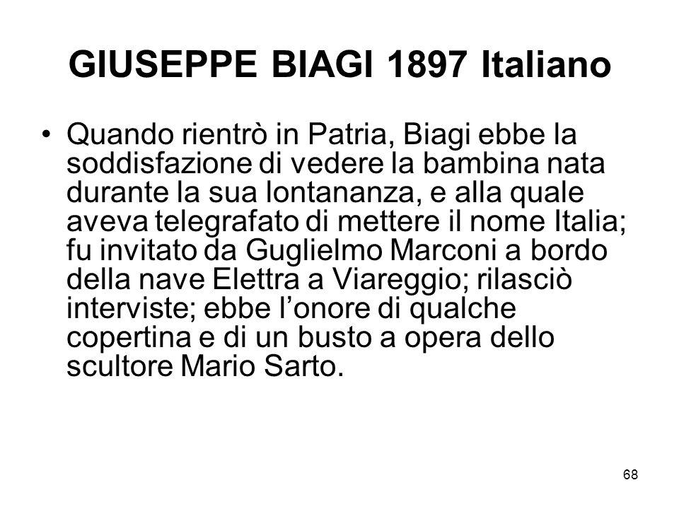 GIUSEPPE BIAGI 1897 Italiano