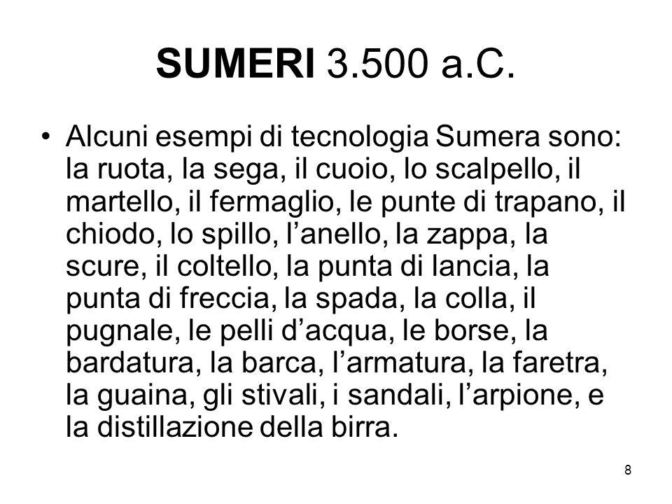 SUMERI 3.500 a.C.