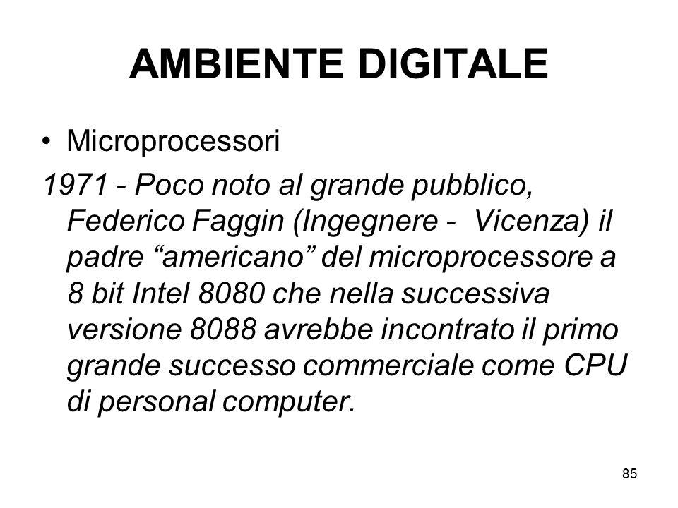 AMBIENTE DIGITALE Microprocessori