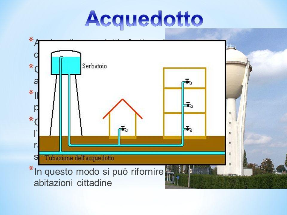 Acquedotto Anche gli acquedotti sfruttano il principio dei vasi comunicanti.