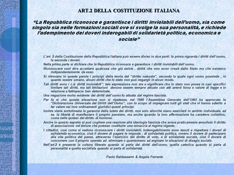 Paolo Baldassarre & Angela Ferrante
