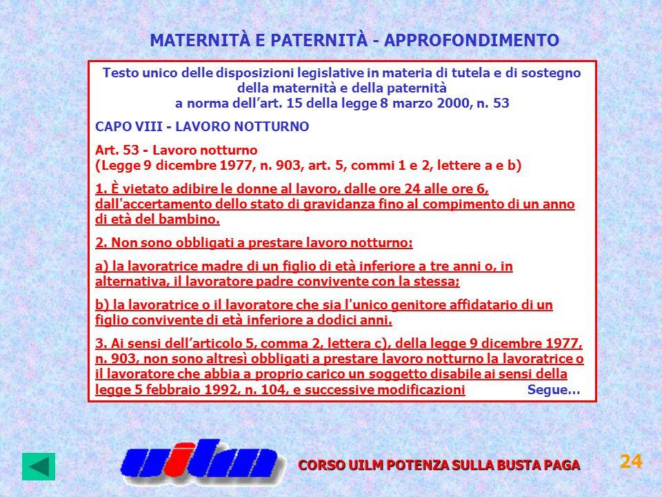 24 MATERNITÀ E PATERNITÀ - APPROFONDIMENTO