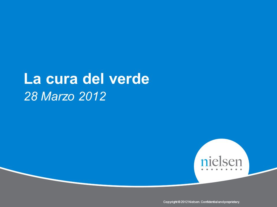 La cura del verde 28 Marzo 2012