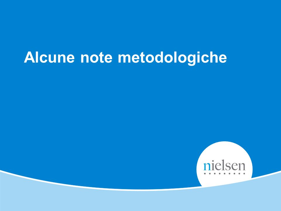 Alcune note metodologiche