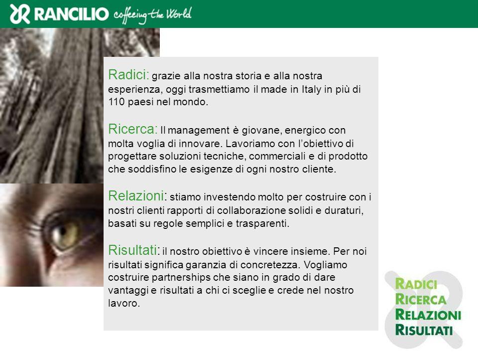 Radici: grazie alla nostra storia e alla nostra esperienza, oggi trasmettiamo il made in Italy in più di 110 paesi nel mondo.
