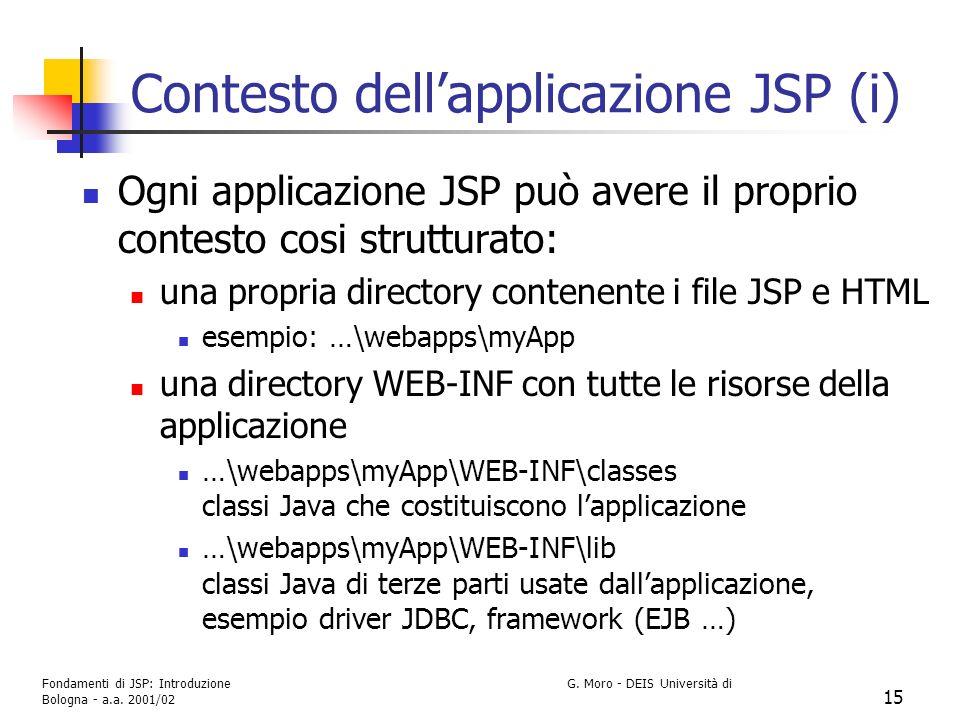 Contesto dell'applicazione JSP (i)