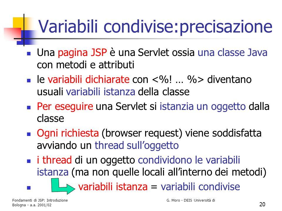 Variabili condivise:precisazione
