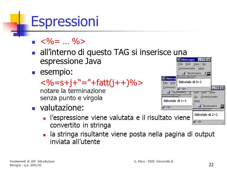 Espressioni <%= … %>