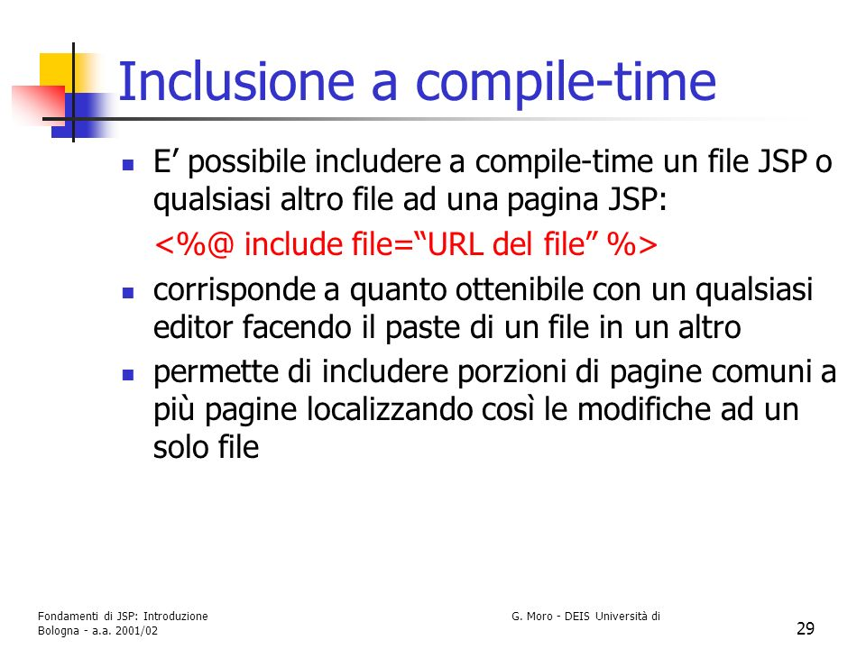 Inclusione a compile-time